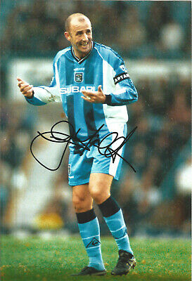 Gary Mcallister Coventry City Signed 10 x 8 inch authentic football photo SS1045