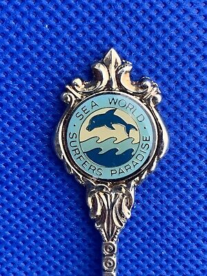 Sea World Surfers Paradise Souvenir Spoon Stuart Silverplated