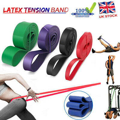 Heavy Duty Resistance Bands Loop Exercise Sport Fitness Tube Home Yoga Gym Latex