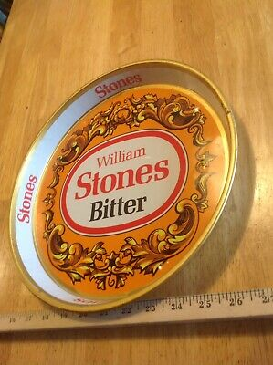 Vintage William Stones Bitters Beer Bar Tavern Metal Serving Tray Collectible