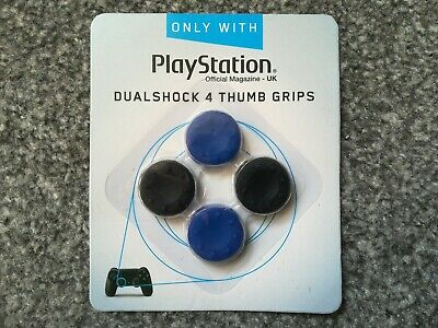 PS4, DualShock 4, Thumb Grips, BLACK and BLUE, Sony, SEALED.