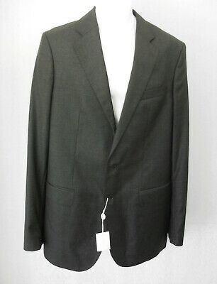 Oliver Wicks NWT Charcoal Gray Wool Two Button Blazer Jacket Men's Size Small