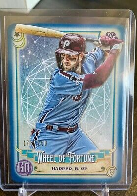 2020 Topps Gypsy Queen Bryce Harper Tarot Card Blue /250 Phillies Sp