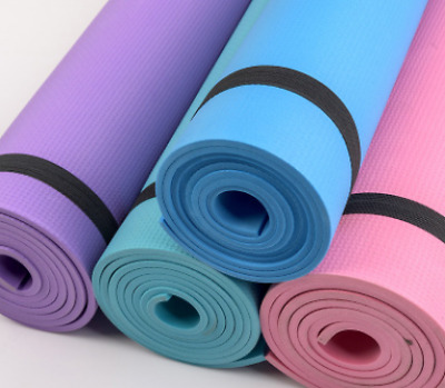 Yoga Mat Gym Exercise Nonslip Comfy Foam Fitness Pilates Physio Sports Workout
