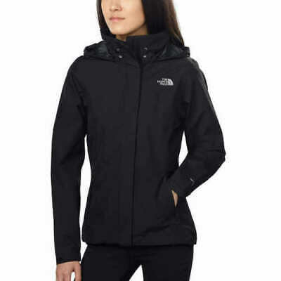 NEW!! The North Face Women's Black Sangro Hooded Full Zip Jacket Size Medium