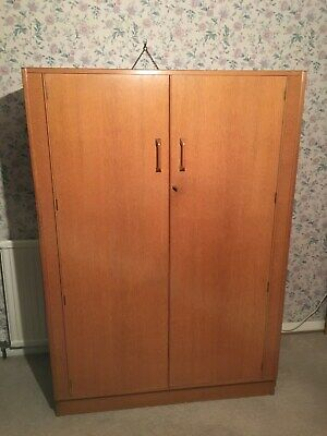 """G-plan"" double wardrobe - varnished oak colour"