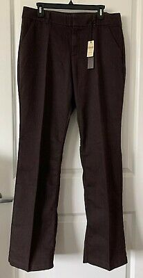NWT Coldwater Creek Natural Fit DENIM BOOTCUT TROUSER Jeans Brown Women's 14