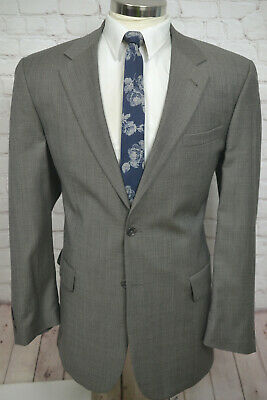 Jos A Bank Mens Taupe Beige Wool Classic Fit Sport Coat Blazer Jacket SIZE 44L