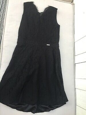MARCIANO GUESS Girls Black Lace Dress Size 16 Retail $78