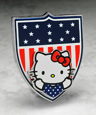 Olympic Pins Badge 2020 2021 Tokyo Japan Hello Kitty Team Usa Usoc Flag Shield
