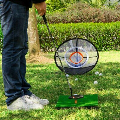 Golf Practice Net Chipping Net New Portable Golf Practice Hitting Training Aid