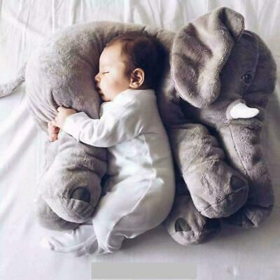 Big Soft Baby Elephant Plush Pillow Gift for Baby Children Grand Sons Daughters