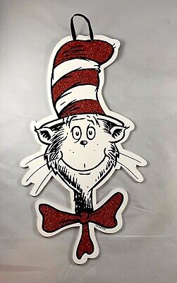 Dr. Seuss Glitter Sign CAT IN THE HAT