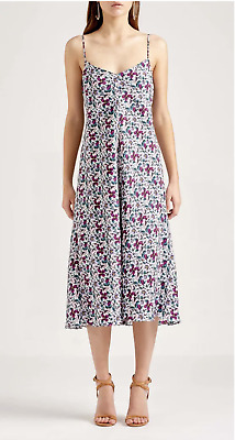 Scanlan & Theodore- Silk Floral Bias Slip Dress, size 10