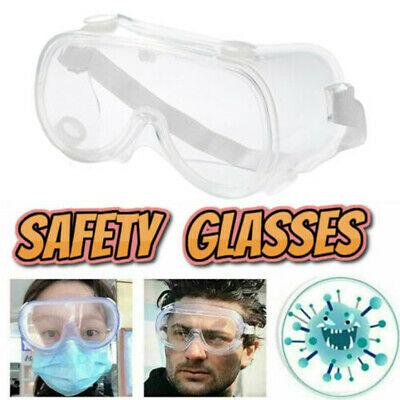 Protective Glasses Clear Anti Fog Safety Goggles Work Lab Eye Protection us