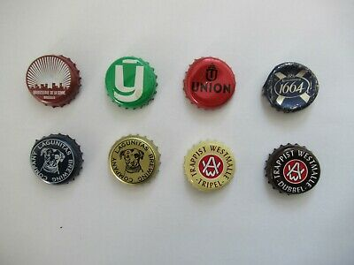 8 x Beer Bottle Tops - Beer Bottle Caps - Crown Caps - All Different - Lot 7