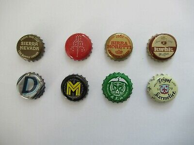 8 x Beer Bottle Tops - Beer Bottle Caps - Crown Caps - All Different - Lot 10