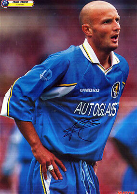 FRANK LEBOEUF IN CHELSEA STRIP HAND SIGNED COLOUR MAGAZINE PICTURE 17 x 12