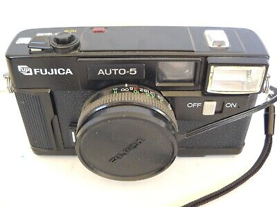 **1980`s FUJICA AUTO 5  35mm VIEWFINDER FILM CAMERA IN VERY GOOD CONDITION**