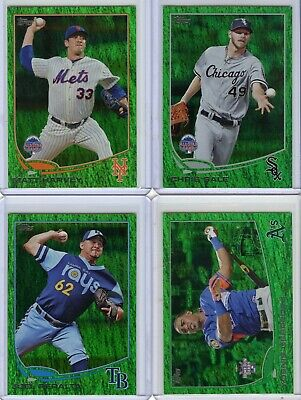 2013 Topps Update Emerald Foil Base Parallel Lot Of 158, No Duplicates