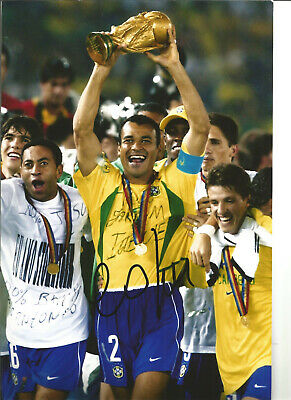 Cafu Autograph Brazil Hand Signed 12 x 8 inch authentic football photo SS1105A