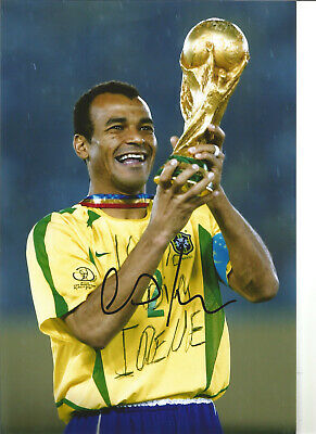 Cafu Autograph Brazil Hand Signed 12 x 8 inch authentic football photo SS1105B