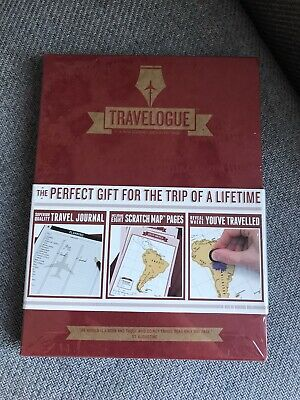 Luckies of London Travelogue Journal Scratch Off Interactive World Map Diary