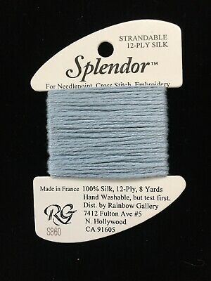 Rainbow GALLERY-SPLENDOR-12 PLY 100/% Silk-STRANDABLE for NEEDLEPOINT-COLOR-S900-PALE Beige-This Listing is for 1 Card
