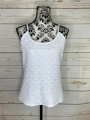 NWT White House Black Market White Cami Top Size XL