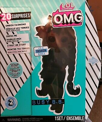 LOL Surprise OMG Series 2 Doll Busy B.B.!  20 Surprises!  New in Box!