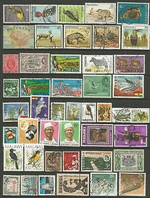 BRITISH COMMONWEATH - Collection of 86 stamps from AFRICAN countries