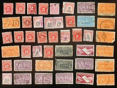 44 Stamps! Back of the Book Mixed Bag Variety of Special Delivery & Postage Due