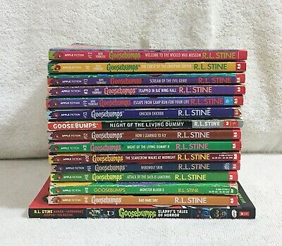 R.L.Stine Goosebumps 14 Paperback Chapter Books & 1 Graphic Novel