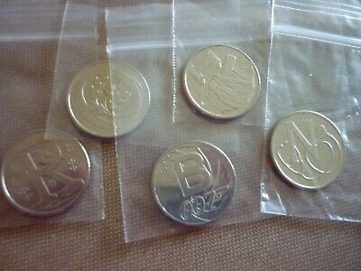 FIVE 2018 10p TEN PENCE ALPHABET COINS R, O, B, I, N   ALL NEW UNCIRCULATED