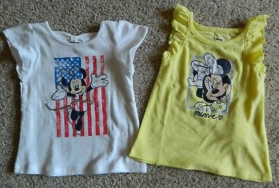 Minnie Mouse 2 pack of girls 18 month Shirts w/glitter