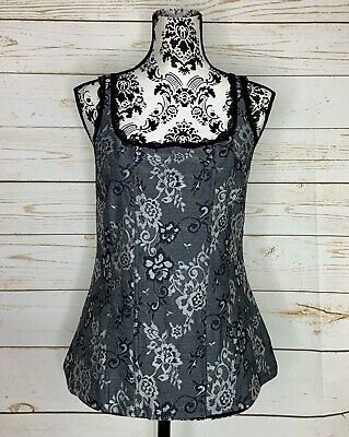 NWT White House Black Market Stretch Jacquard Tank Size L