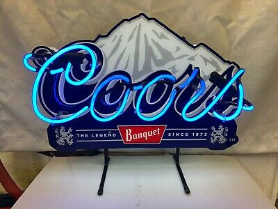 "Rare Coors Banquet Beer Neon Sign~Lighted~14"" X 11""~Tavern~Bar Sign~Cave"