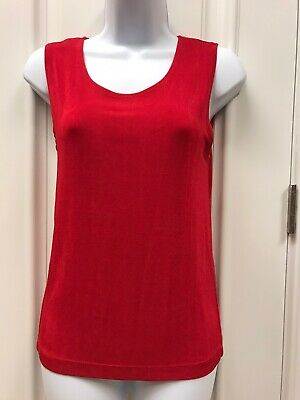 Stretchy Slinky Chico's Travelers Acetate/Spandex Red Tank Top Size 0 Small 6-8