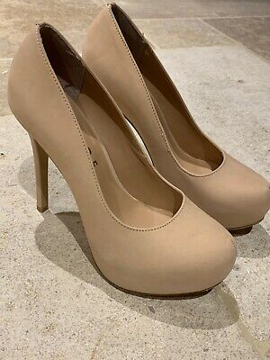 Office Ladies High Court Shoe Nude Pink Nubuck Size 38