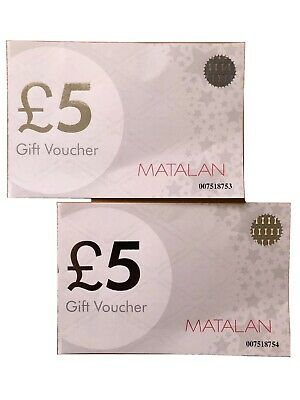 £10 MATALAN GIFT VOUCHERS Two £5 Vouchers Expiry Dec 2022 Shopping Coupons