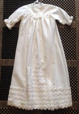 Vintage Handmade Christening Dress With Slip