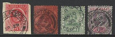 COMMONWEALTH paquebot/mailboat postmark/cancel early stamp selection, Plymouth/