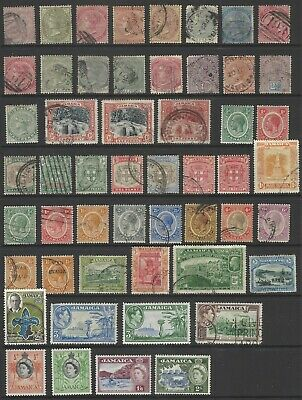 JAMAICA QV-QEII collection stamps from early classic, mint/used, postmark/cancel
