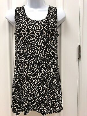 Stretchy Slinky Chico's Travelers Acetate/Spandex Animal Tank Top 0 Small 6-8