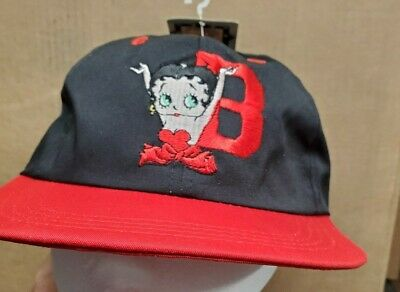 1994 BETTY BOOP Hat Cap EMBROIDERED LOGOS Adjustable NWT