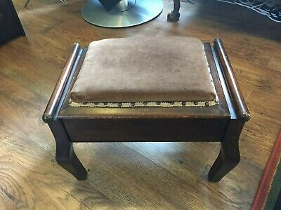 Antique Stool With Opening Lid And Storage