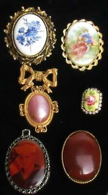 18PCS Antique Style Silver Tone Alloy Cameo Setting(Inner Size25*18 32*25*2mm