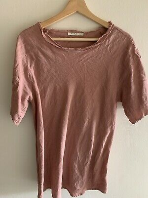 Marle Pink Linen Tee - Size 10