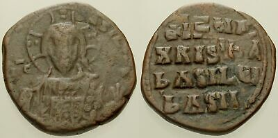 054. Byzantine Coin. CLASS A1 Anonymous. AE-Follis. Constantinople. Fine