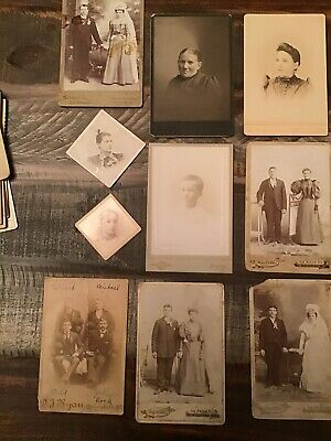 Lot of Antique Cabinet Card Photos Victorian Children late 1800's- Early 1900's